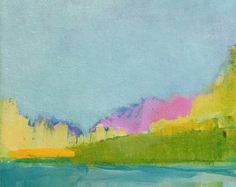 "May's New Morning - Original Acrylic Landscape Painting - 10"" x 10"""