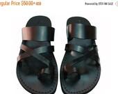 20% OFF Black Bath Leather Sandals for Men & Women