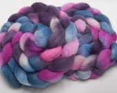 Exmoor Blueface British rare breed wool hand painted combed top roving fibre 100g Malmesmead