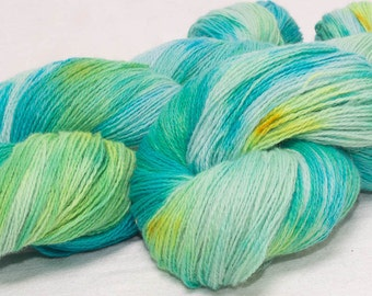 SALE  Hand dyed yarn, lace weight yarn, Angora Merino lambswool yarn, 100g skein,  knitting, crochet, colour;Minervois