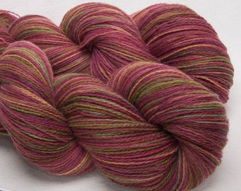 Hand dyed yarn, Scottish Shetland,  handpainted 2ply,  100% pure Shetland wool, Indie dyed yarn, colour; Acer Leaves