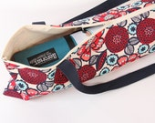 Yoga Mat Bag with Zipper and POCKET, Yoga Mat Carrier, Pretty,  Blue, Red, Pink Floral