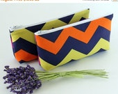 Chevron Clutch, Cosmetic Bag, Purple Make Up Case, Purple Chevron Purse, Personalized Bridesmaid Gift, Wedding Party Favor, Colorful Clutch