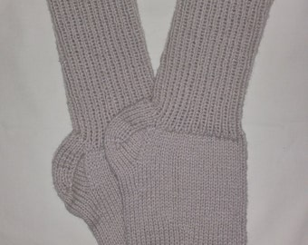 New Warm and Soft Hand Knit Socks (11.5 inches length)