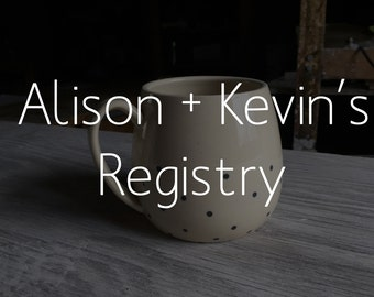 Mug in Dots Pattern - Alison and Kevin's Wedding Registry FREE SHIPPING