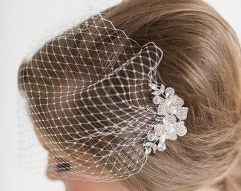 Birdcage Veil, Wedding Veil, Bridal Bandeau Veil, Bridal Comb and Veil, Bridal Veil, Wedding Birdcage Veil