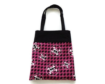 Fabric Skull Gift/Goodie Bag - Skulls wearing Pink Bows
