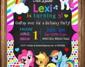 My Little Pony Invitation, My Little Pony PRINTABLE Invitation, My little Pony Party