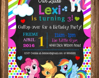 My Little Pony Invitation, My Little Pony PRINTABLE Invitation, My little Pony Birthday Party, Digital Invitations
