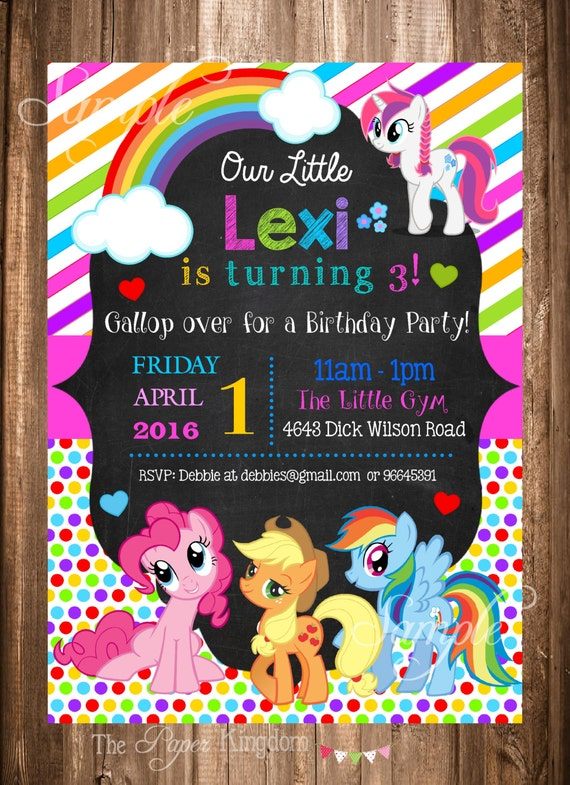 Universal image pertaining to my little pony invitations free printable
