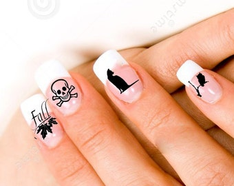 Fall & Halloween  24  Nail Decals