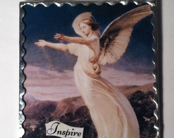 Angel Greeting Card / Ornament Victorian Angel Photograph Wishing You Love