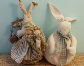 primitive bunny dolls