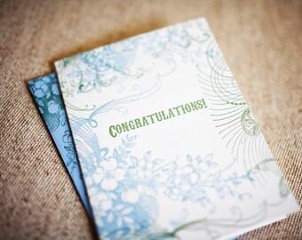 Flourish Congrats Letterpress Greeting Card