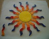 Sk6 - GINORMOUS Deconstructed RAINBOW SUN - Ceramic Mosaic Tiles Set