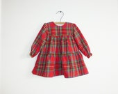 Vintage Baby Red Plaid Dress