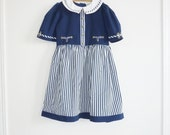 SALE // Vintage Girl's Nautical Dress
