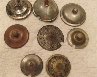 Vintage lot of Sugar or Creamer Covers 8 brass ect SALE