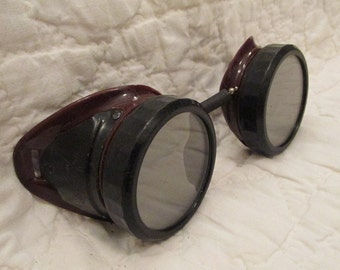 Vintage Safety Goggles Welding by Norton Marked