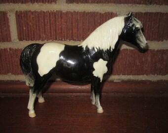 Vintage Adorable Breyer Black and White Pinto Shetland Pony