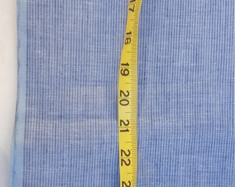 Cotton Chambray Stripe Fabric 2-2/3yd