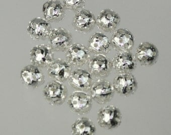 Wholesale Lot 500 pcs of Silver Plated Filigree Round Beads Spacer - 6mm - Ship from California USA