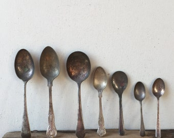 Collection of Vintage Silver Spoons