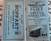 Gallup Map and Stationery Official Guide of Greater Kansas City Circa 1920s 1930s from Bopparts Greeting Cards Kansas City