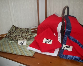 """Q-1613 Quilts with 2"""" Silk Binding"""