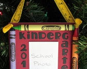 2015 Kindergarten Crayon Keepsake School Photo Ornament