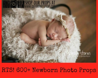 RTS Newborn Props, * 40 Color Options * Short Faux Fur Newborn Photo Props, Artificial Fur, Newborn Baby Photography Props, Basket StuFfeR