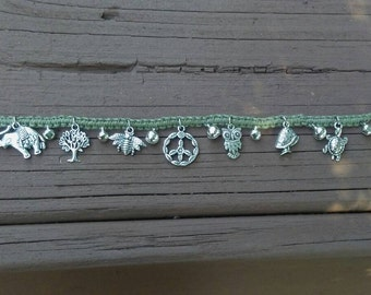 Green Peace Bell Anklet