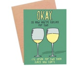 Funny New Baby Card | Funny New Parents Card | Funny New Mom Card - Drinking For Two