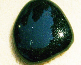 Green Goldstone Cabochon - Beautiful Sparkly Pear Shaped Handmade by JewelryArtistry - GC840