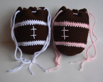 Football Purse in White or Pink