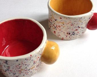 Primary Splatter Cuddle Mugs