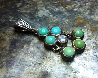 Beautiful and unusual turquoise pendant