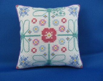 Dragonfly Pincushion with Cross stitch
