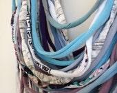 upcycled t-shirt / fabric multi-strand necklace