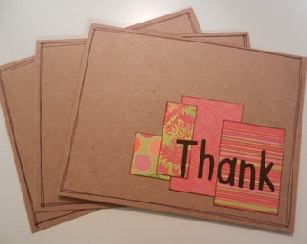 Thank U - Set of 3 - Note Cards