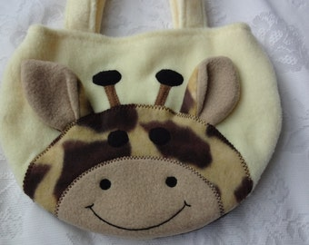 Giraffe Purse, Giraffe Animal Purse, Toddler Girl Children Purse, Kids Purse, Bag, Animal Purse, Girls Purse, Treat Bag
