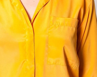 35% OFF SUMMER SALE The Vintage Mustard Yellow Button Up Shirt