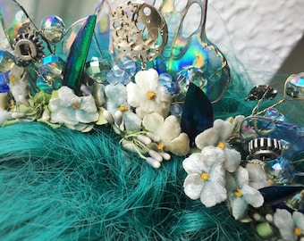 Blue fairy tiara