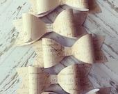 Half Dozen Paper Bows French Maps Script