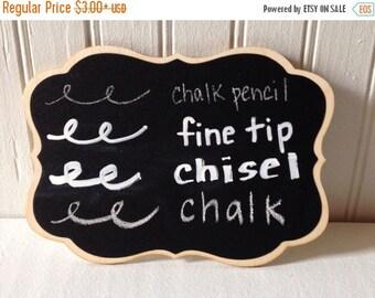 SALE- Chalk Ink Chalk Marker 1.0 Fine Tip, Chalk ink Chalk Marker 6mm chisel tip, Chalk Pencil, Box of White Chalk