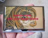 Business Card Case Custom Made With Your Image Personalized Chromed Brass Case