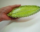 Lime Green Leaf Incense Holder-free shipping