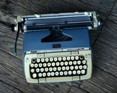 Smith Corona Typewriter With Case Classic 12 Gray Blue and Cream Color Manual Portable Compact Vintage Typewriter From Nowvintage on Etsy