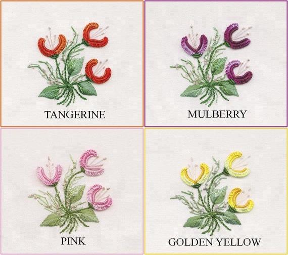 Three Jasmines Brazilian Embroidery KIT 1223 Choose Thread
