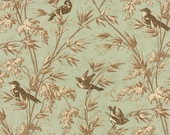 RESERVED Larkspur by 3 sisters for Moda Birdsong in Aqua 9 yards   YES!! Continuous fabric cuts and combined shipping